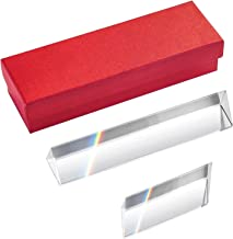 Simuer Crystal Optical Glass Triangular Prism Refractor for Teaching Light Spectrum Physics and Photo Photography Prism,2