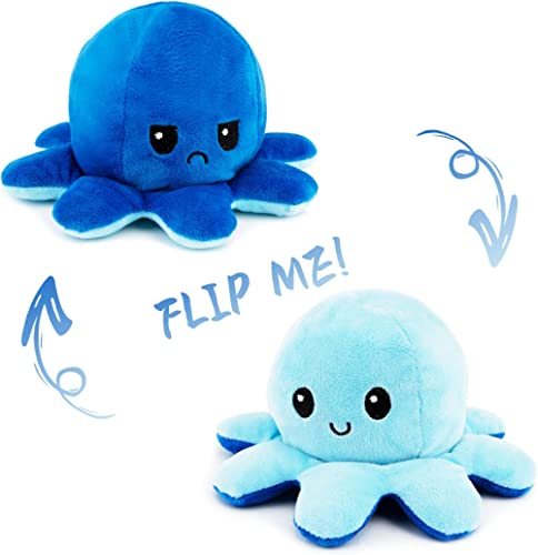 Octopus Plush Reversible Genuine Double-Sided Flip Octopus Pillow Plushie Soft Cute Stuffed Animals Doll with Rich Ex...