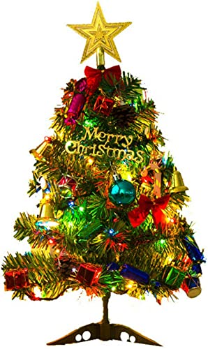 wholesale OPTIMISTIC online sale Mini Christmas Table Tree, Artificial Christmas Trees outlet online sale with LED Lights String, Tree Topper, Pine Cone Decoratings, 18 Inch Prelit Tabletop Christmas Tree Ornament Decoration outlet sale