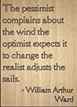 the pessimist complains about the wind quote