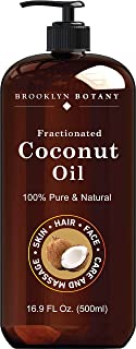 Fractionated Coconut Oil for Skin – 100% Pure and Natural – Carrier Oil for Essential Oils, Aromatherapy and Massage - Moi...
