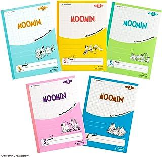 アピカ ムーミン 学習帳 5ミリ方眼罫(10ミリ実線入り) 5冊組 MLS10X5AM