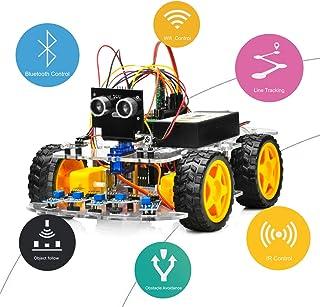OSOYOO Robot Car Starter Kit for Arduino UNO | STEM Remote Controlled App Educational Motorized Robotics for Building Prog...