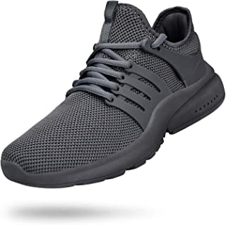 Mens Running Shoes Non Slip Gym Tennis Shoes Slip Resistant Air Knitted Sneakers Walking Workout Sport Shoes