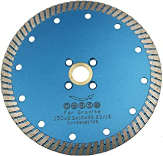 JDK1801C 6 Inch Dry Cutting Granite of Continuous Rim Diamond Saw Blade with 7/8 Inch Arbor