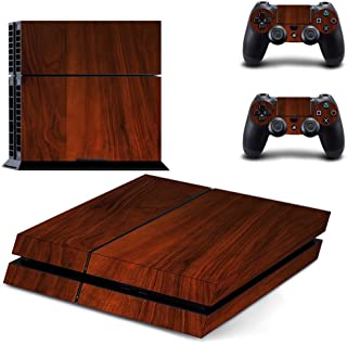 Skin Cover For Playstation 4 For PS4 Style Textured Wood