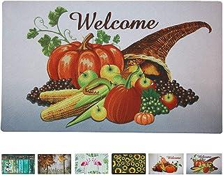 Attraction Design Rubber Welcome Door Mat, Decorative Indoor Outdoor Fall Doormat Non Slip Front Door Mat, Easy to Clean L...