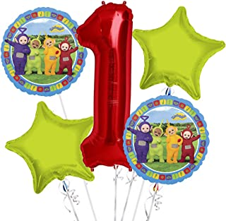Teletubbies Balloon Bouquet 1st Birthday 5 pcs - Party Supplies