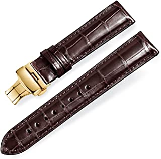 Real Alligator Leather Replacement Watch Strap Deployment Buckle for Men's Watch Band and Women's Watch Band 18mm-24mm