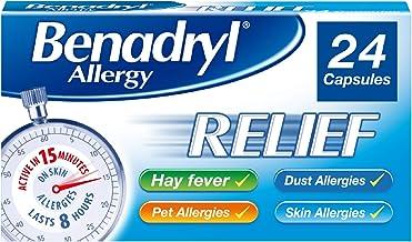 Benadryl Allergy Relief Capsules - Fast-Acting Antihistamine