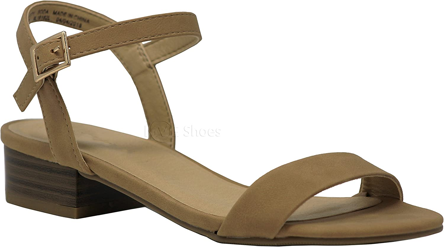 MVE shoes Girl's Cute Summer Flat Sandals - Comfy Ankle Strap Flat shoes for Girls