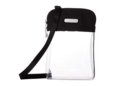 Baggallini Legacy Stadium Bags Clear Bryant Crossbody (Black) Cross Body Handbags