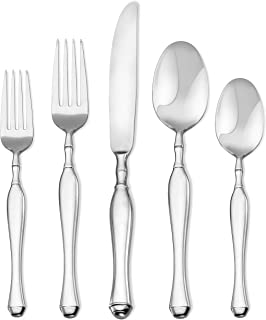 Argent Orfèvres Ultima-20 Flatware Set, Service for 4, Forged 18/10, 20-Piece, Silver