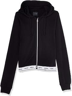 GUESS Women's Zip Hooded Jacket Jacket