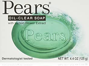 Pears Soap Oil Clear With Lemon Flower extract, 4.4 oz (Pack of 12)