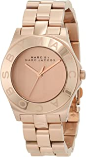 Marc By Marc Jacobs Women's Rose Gold Dial Stainless Steel Band Watch - Mbm3127, Analog Display