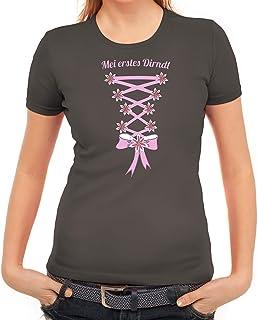 ShirtStreet Gaudi Wiesn Oktoberfest Damen Frauen T-Shirt Rundhals Oktoberfest - Dirndl