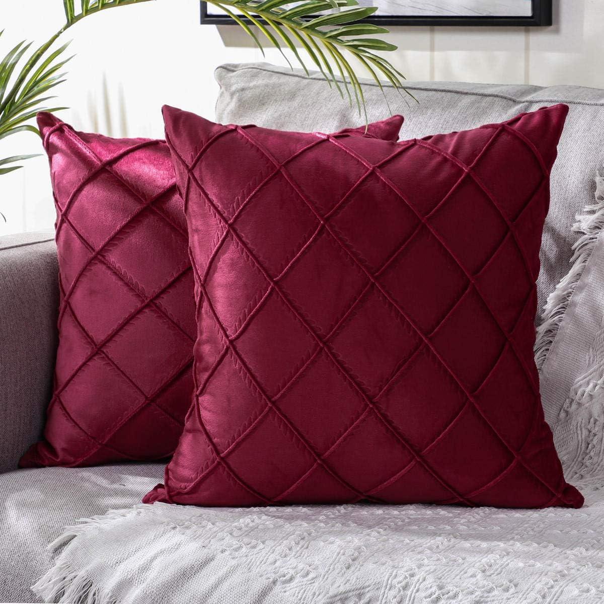 unisex Ranking TOP10 DEELAND Pack of 2 Velvet Decorative Pillow Pil Throw Soft Covers