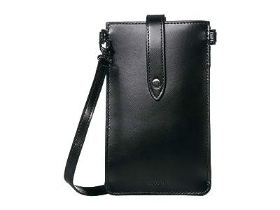 Lodis Accessories Audrey Under Lock Key Phone Crossbody (Black/Black) Handbags