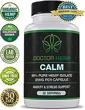 Doctor Hemp Calm   for Anxiety, Depression & Stress Relief   750mg of Pure Organic Hemp Extract + Ashwagandha, Rhodiola, 5-HTP, L-Theanine, GABA   Stress Less, Do More   Vegan, Non-GMO   30 Serv