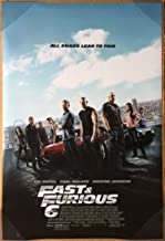 FAST AND FURIOUS 6 MOVIE POSTER 2 Sided ORIGINAL FINAL 27x40 VIN DIESEL