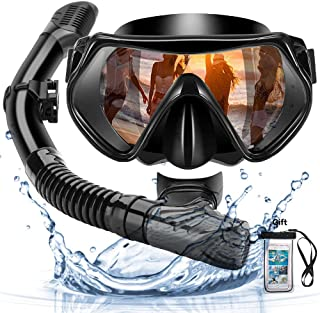 comprar comparacion Arkmiido Snorkel Máscara, Kit de Snorkel,Máscara de Buceo de Silicona y Snorkel seco,Set para Snorkeling Máscara e Tubo,et...