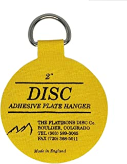 Flatirons Disc - Invisible English Disc - Adhesive Plate Hanger - Strong Hold - 2 inch - (10 Pack)