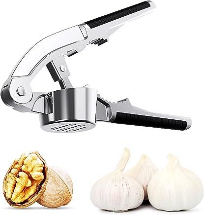 Splink Garlic Press Nut Cracker Stainless Steel Professional Heavy Soft Handled Kitchen Garlic Press, Crusher, Mincer