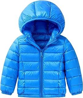 Baby Boys Girls Hooded Coat Winter Lightweight Down Jacket Packable Cotton Coat