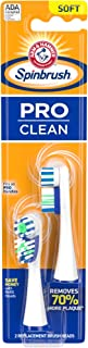 Arm & Hammer Spinbrush PRO CLEAN, Soft, Electric Battery Toothbrush Refills (Replacement Heads), 2ct