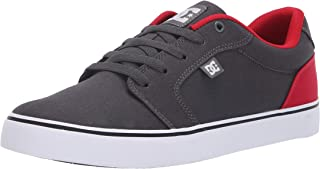 DC Men's Anvil Tx Skate Shoe, Dark Shadow/True red, 13 D...
