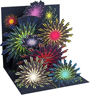 3d Greeting Card - Fireworks Celebration - All Occasion