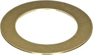 260 Brass Round Shim, Unpolished (Mill) Finish, H02/H04 Temper, ASTM B36, 0.025