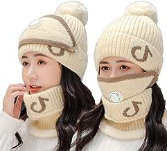 YTXTT Conjunto de 3 peças de cachecol feminino de inverno com filtro de malha espessa, capa de rosto para mulheres, homen...