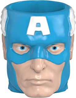 Zak Designs Marvel Comics Captain America Unique 3D Character Sculpted Ceramic Coffee Mug, Collectible Keepsake and Wonderful Coffee Mug (17 oz., Captain America, BPA-Free)