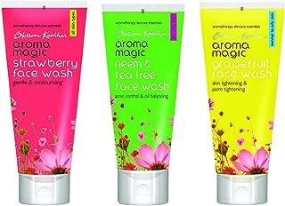 Aroma Magic Strawberry Face Wash,Neem And Tea Tree Face Wash,Grapefruit Face Wash Combo 100Ml