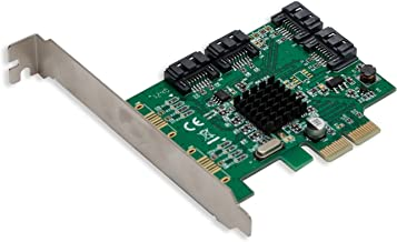 I/O CREST 4 Port SATA III PCI-e 2.0 x2 Non RAID Hard Drive Controller Card Marvell 9235 Chipset