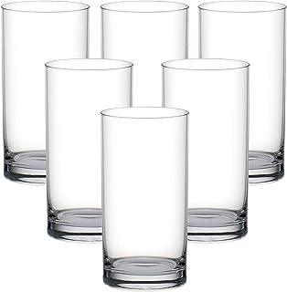 Ocean Fin Line Hi Ball Glass, Pack of 6, Clear, 280 ml, B01210