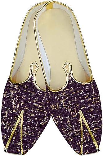 INMONARCH Herren Lila Weiß Hochzeit Schuhe Gedruckt MJ010555