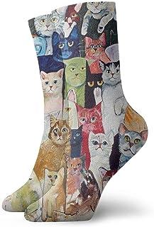 yting, Gatos Calcetines de vestir de animales Calcetines divertidos Calcetines locos Calcetines casuales para niñas Niños