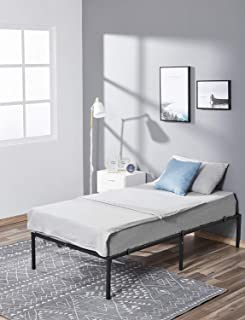 kealive Bed Frame 14 Inch Heavy Duty Steel Slat, Noise-Free and Anti-Slip Mattress Foundation, Metal Bed Frame Platform No Box Spring Needed, Maximum Under-Bed Storage, Easy Assembly, Twin