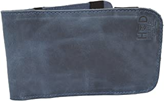 Hide & Drink Rustic Leather & Waxed Canvas Golf Performance Scorecard Holder Handmade Blue Mar