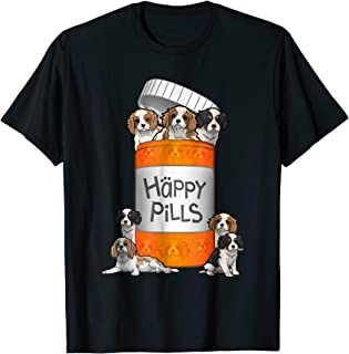 Cavalier King Charles Spaniel Happy Pills T-shirt