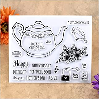 Kwan Crafts Happy Birthday Anniversary Get Well Soon Mother's Day Clear Stamps for Card Making Decoration and DIY Scrapbooking