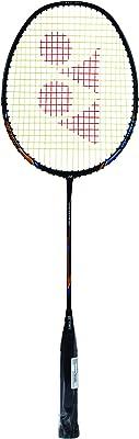 Yonex Nanoray Light 18i Graphite Badminton Racquet with Free Full Cover (77 Grams, 30 lbs Tension)&Yonex AC 402 EX Synthetic Badminton Grip, Yellow