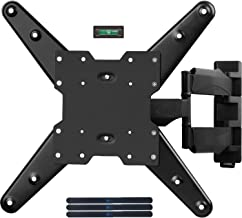 WALI TV Wall Mount Bracket with Full Motion Articulating Extend Arm for Most 26 to 50 inch LED, LCD Flat Screen TVs up to 88 lbs VESA 400 by 400mm with Tilting for Display (MA4602), Black