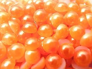 【ラインストーン77】 超高級 パールストーン 各サイズ選択可能 2mm~8mm オレンジ (2mm (約400粒))
