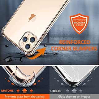 VMS Case for iPhone 11, Ultra-Thin HD Clear Slim Soft TPU Protective Case, Hard PC Back + Soft TPU Frame Shock-Absorption Anti-Scratch Cover Cases for iPhone (11)