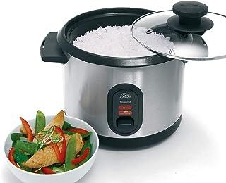 Solis Rice Cooker 816 rijstkoker, zilver, tot 7 porties rijst bereiden, groenten stomen, slimme rijstkoker met warmhoudfun...