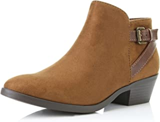 DailyShoes Women's Western Cowboy Booties Comfortable Chunky Heel Pointed Toe Stylish Ankle Boots